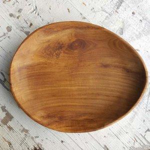 インドネシア・チーク・WOOD・木製オーバルプレート