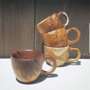 インドネシア・チーク・WOOD・木製マグカップ
