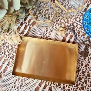 真鍮・ブラストレイ(M)・長方形・マネートレイ・アクセサリートレイ
