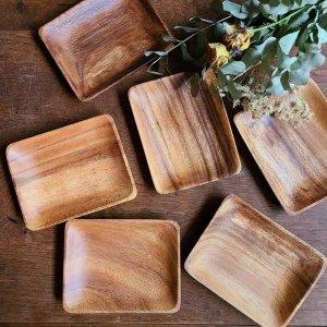 木製・スクエアプレート(M)・ウッドトレイ