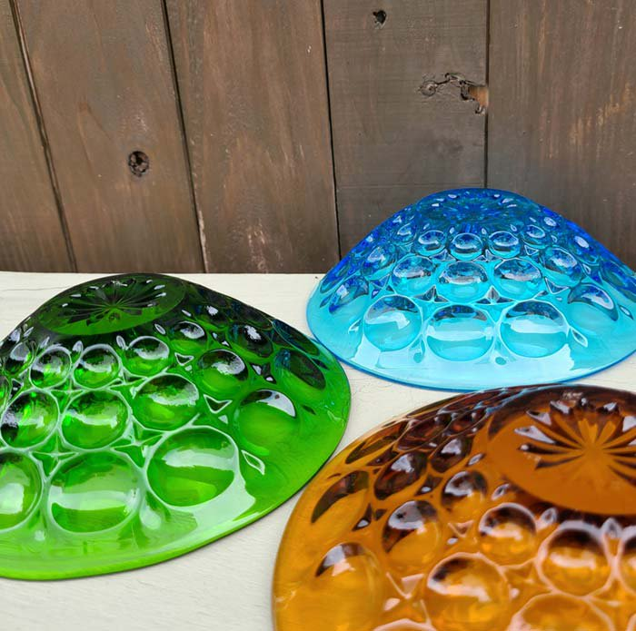 ガラス3色・デザート器・レトロガラスデザイン・ガラスプレート サブイメージ