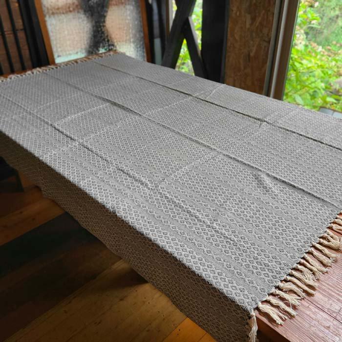 ジャガード織りマルチカバー・ベットカバー・マルチクロス・大判サイズ・幾何学模様 メインイメージ