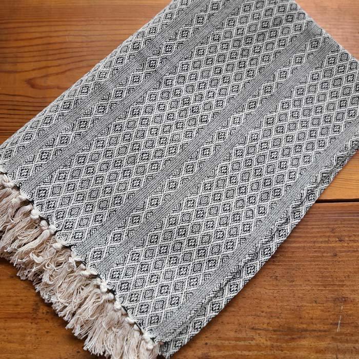 ジャガード織りマルチカバー・ベットカバー・マルチクロス・大判サイズ・幾何学模様 サブイメージ