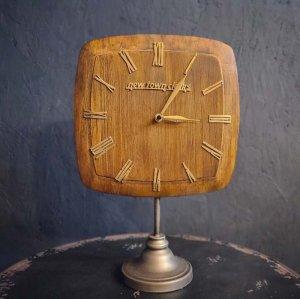 置時計・ウッドクロック・木製時計・スタンドクロック・レトロデザイン