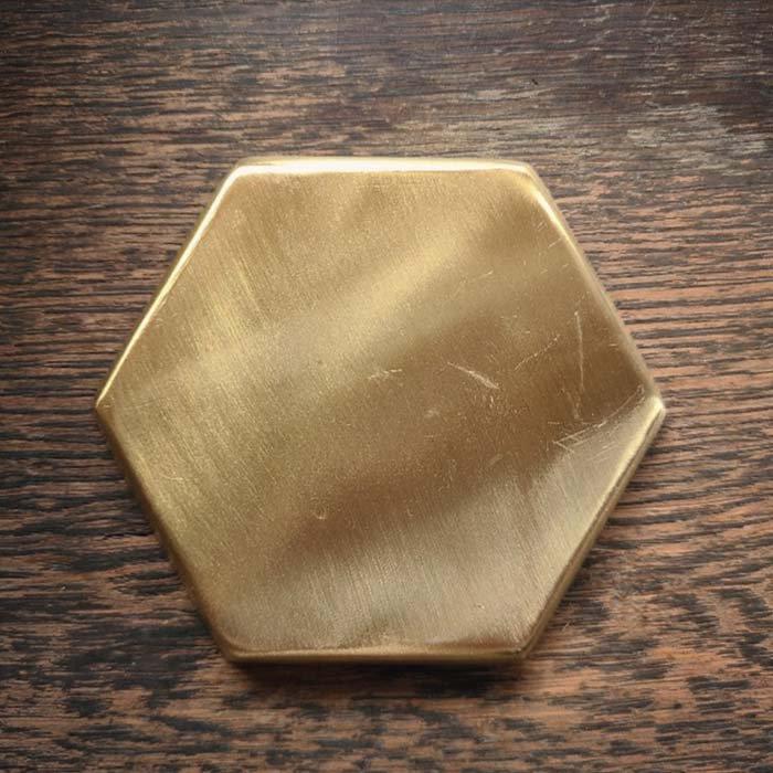 真鍮・ブラストレイヘキサゴン・アクセサリートレイ サブイメージ
