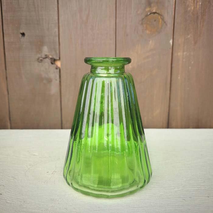 グリーン・フラスコ・ガラスフラワーベース サブイメージ