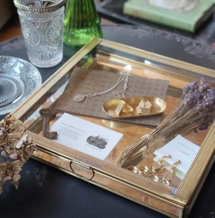 真鍮・ブラス・スクエア・ガラスケース・レトロケース メインイメージ