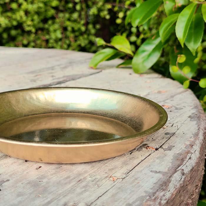 昭和レトロ・アルマイト・給食食器皿・ゴールド・アルミ皿・プレート サブイメージ