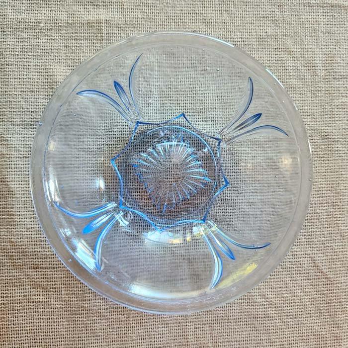 昭和レトロガラス・ガラス器・デザートガラス・ブルー サブイメージ