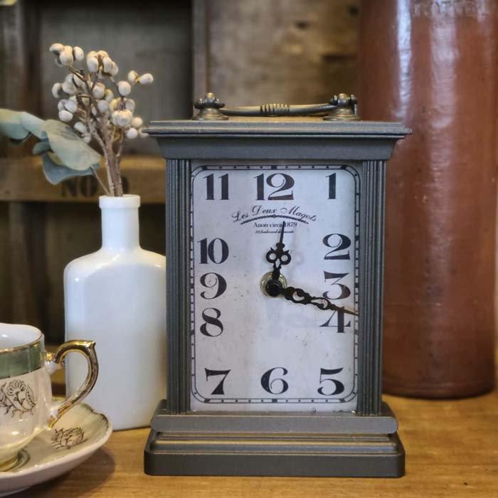 アンティーク調・置き時計・スクエアクロック メインイメージ