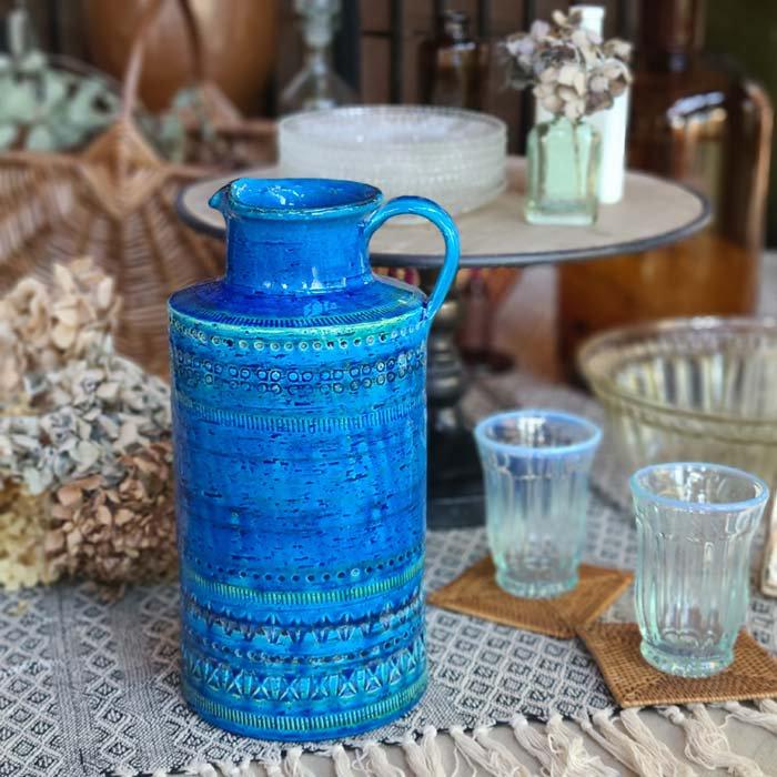 ビトッシ・フラビア(FLAVIA)・リミニブルー・ボトル・フラワーベース・陶器・イタリア メインイメージ