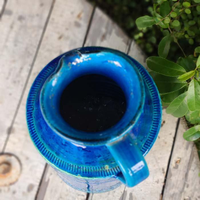 ビトッシ・フラビア(FLAVIA)・リミニブルー・ボトル・フラワーベース・陶器・イタリア サブイメージ