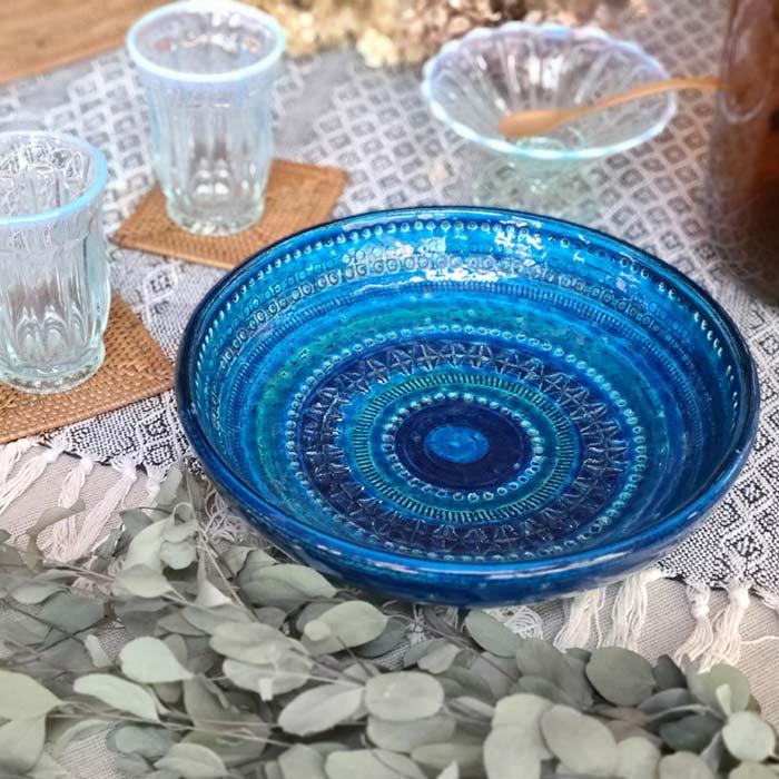 ビトッシ・フラビア(FLAVIA)・リミニブルー・プレート・陶器・イタリア メインイメージ
