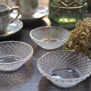 レトロガラス・豆皿・金縁