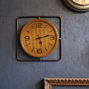 木製・インダストリアル風・ウォールクロック・壁掛け時計