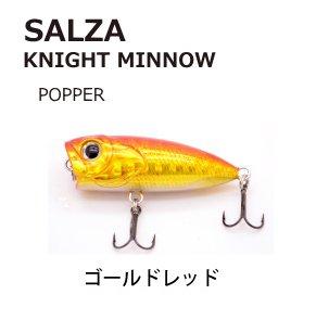 SALZA ナイトミノー ポッパー KP-4 (ゴールドレッド) / SALE10 (メール便可)