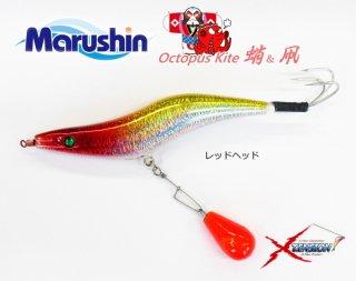 マルシン漁具 オクトパス カイト 3.5号 レッドヘッド / タコエギ 蛸餌木 / SALE