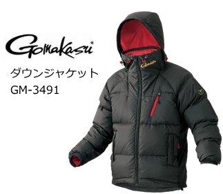 【送料無料】 がまかつ ダウンジャケット GM-3491 ブラック Lサイズ /  防寒着 [お取り寄せ商品]
