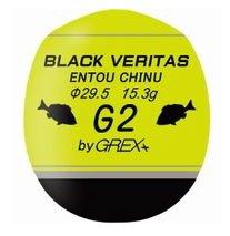 グレックスプラス (GREX+) ブラック ベリタス 遠投チヌ 3B イエロー / 円錐ウキ (メール便可)
