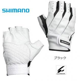シマノ レザノヴァ(R) へらグローブ (5本指出し) GL-049K ブラック 右手 LWサイズ (お取り寄せ商品)