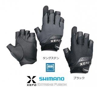 シマノ ゼフォー パワーキャスティンググローブ GL-229Q タングステン R-Mサイズ (お取り寄せ商品)