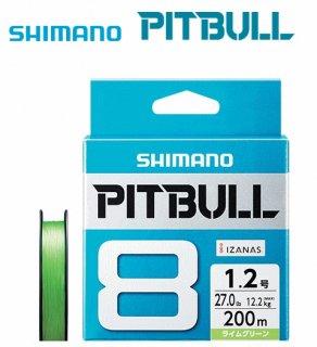 シマノ ピットブル8 PLM58R ライムグリーン 1.5号 150m / 8本編みPEライン (メール便可) 【本店特別価格】