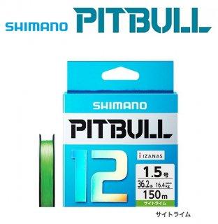 シマノ ピットブル12 PLM52R サイトライム  1.5号 150m / 12本編み PEライン (メール便可) 【本店特別価格】