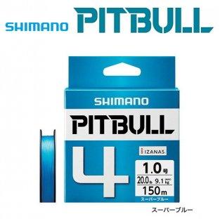シマノ ピットブル4 PLM54R スーパーブルー 1.5号 150m / PEライン (メール便可) 【本店特別価格】