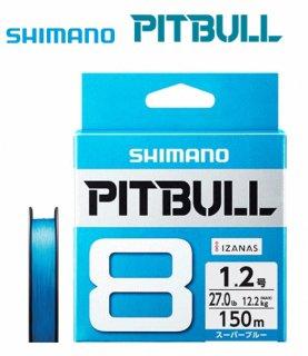 シマノ ピットブル8 PLM68R スーパーブルー 0.8号 200m / 8本編みPEライン (メール便可) 【本店特別価格】