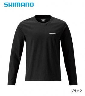 シマノ コットンTシャツ (長袖) SH-095R XL(LL)サイズ ブラック