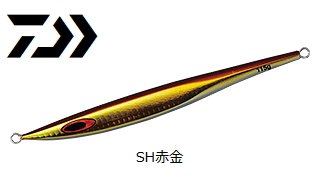 【セール】 ダイワ ソルティガ BSジグ 130g SH赤金 / メタルジグ (メール便可)