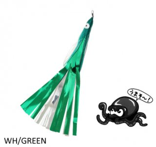 タカ産業 タコパラビラ TK-003 ホワイト×グリーン / 蛸 タコ 仕掛け (メール便可)