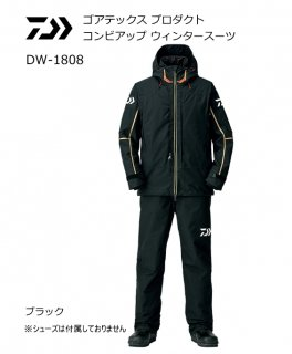 ダイワ ゴアテックス プロダクト コンビアップ ウィンタースーツ DW-1808 ブラック Lサイズ (送料無料)(お取り寄せ商品)