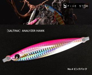 オフショアジギング用メタルジグ ソルティナ アナライザーホーク OF KG-278 170g ピンクバック / ルアー (メール便可)