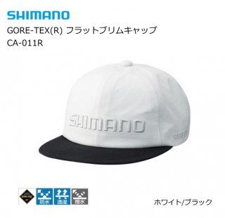 シマノ GORE-TEX(R) フラットブリムキャップ CA-011R ホワイト/ブラック フリーサイズ / 帽子