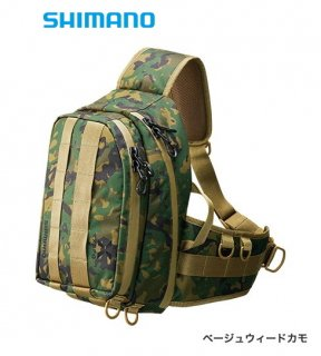 シマノ ゼフォー (XEFO) タフ スリングショルダーバッグ BS-211S ベージュウィードカモ Sサイズ