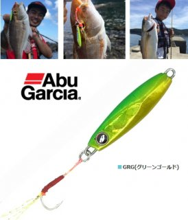 アブ ガルシア ソルティーステージ マイクロジグフラット 14g #GRG(グリーンゴールド) / メタルジグ (メール便可)