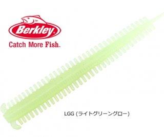 バークレイ ソルトウォーター パワーベイト ホローサンドワーム 3.8インチ #LGG (ライトグリーングロー) (メール便可)