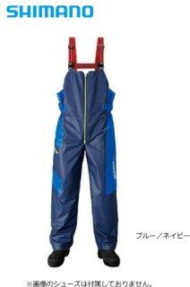 シマノ マリンサロペット RA-03PN ブルー/ネイビー 2XL(3L)サイズ / レインウェア (送料無料)