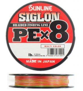 サンライン シグロン PEx8 マルチカラー 3号(50lb) 300m / PEライン (メール便可)