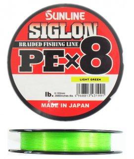 サンライン シグロン PEx8 ライトグリーン 0.3号(5lb) 150m / PEライン (メール便可)