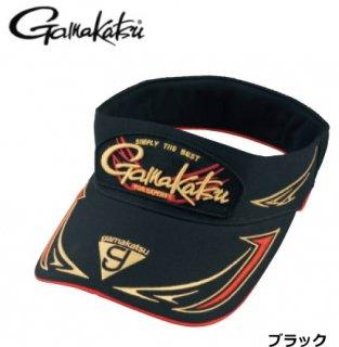 がまかつ サンバイザー GM-9856 ブラック Mサイズ / 帽子
