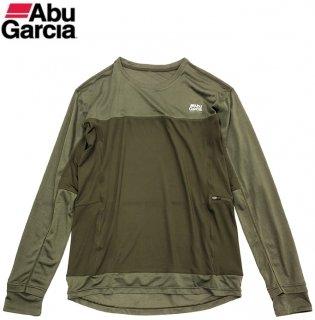 【セール】 アブガルシア スコーロン×接触冷感 ドライ長袖 Tシャツ オリーブ XL(LL)サイズ