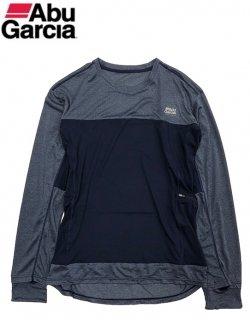 【セール】 アブガルシア スコーロン×接触冷感 ドライ長袖 Tシャツ ネイビー Lサイズ