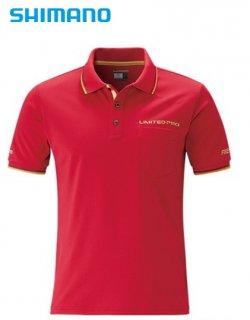 【セール 40%OFF】 シマノ ポロシャツ LIMITED PRO SH-174S ブラッドレッド Sサイズ / ウェア