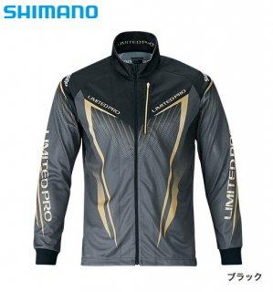 シマノ フルジップシャツ リミテッドプロ (長袖) SH-011S ブラック Lサイズ (送料無料)(お取り寄せ商品)
