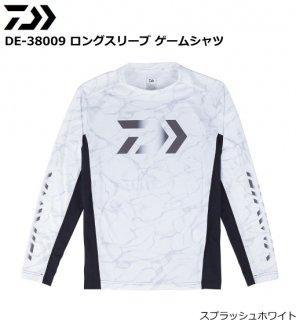 ダイワ DE-38009 ロングスリーブ ゲームシャツ スプラッシュホワイト Mサイズ (お取り寄せ商品)