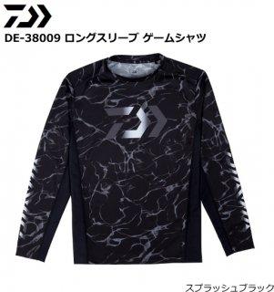 ダイワ DE-38009 ロングスリーブ ゲームシャツ スプラッシュブラック Mサイズ