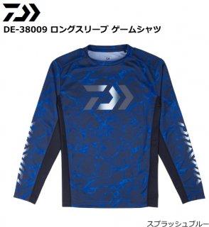ダイワ DE-38009 ロングスリーブ ゲームシャツ スプラッシュブルー Mサイズ