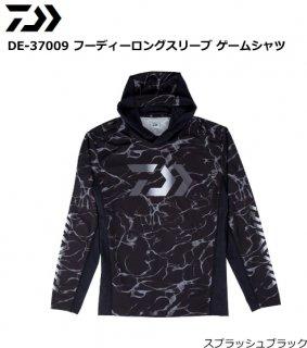 ダイワ DE-37009 フーディーロングスリーブ ゲームシャツ スプラッシュブラック Lサイズ(お取り寄せ商品)